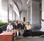 Dean, Choong, Eddie and Wong at Mengembang, KL Hilton Hotel Installation