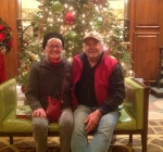 Edwin and Gwen at the Hotel Roanoke Christmas 2017