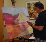 Ricky Lindley Painting at the Silk Hope All Out Art Invitational (16)