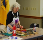 Vidabeth Benson demonstrating Silk Screen Printing at the Silk Hope All Out Art Invitational (11)