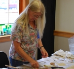 Gretchen Niver working Stained Glass at the Silk Hope All Out Art Invitational (5)